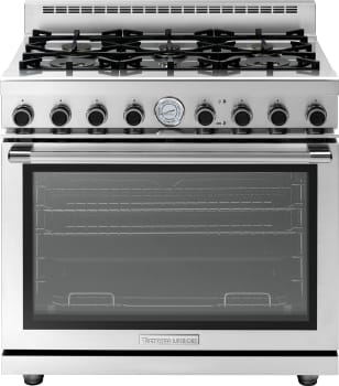 Tecnogas Superiore Next Panoramic Series RN361GPSSL - Tecnogas 6-Burner Gas Range with Panoramic Door Design