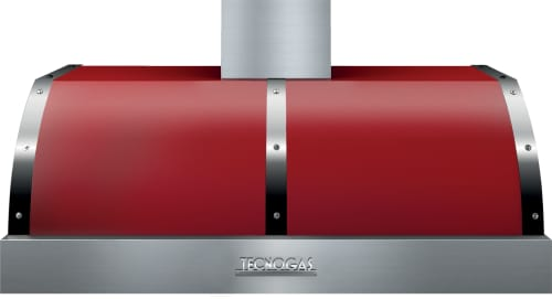 Tecnogas Superiore Deco Series HD481BTRC - Red DECO Hood with Chrome Accents