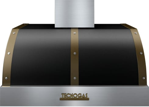 Tecnogas Superiore Deco Series HD361BTNB - Tecnogas Black Wall/Under-Cabinet Mount Hood with Bronze Accents