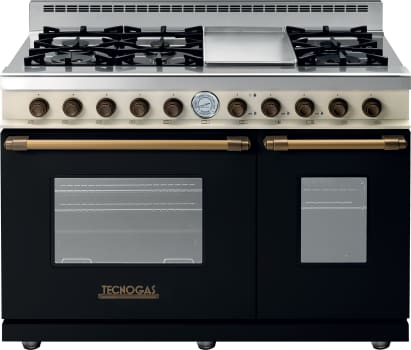 Tecnogas Superiore Deco Series RD482GCNCB - Black Range with Bronze Accents and Cream Control Panel