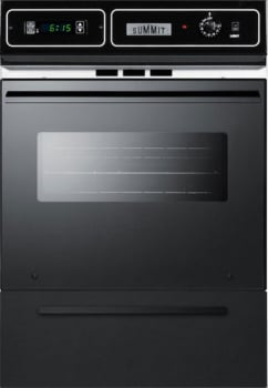 "Summit TEM721DK - 24"" Single Electric Wall Oven in Black. To fit 39"" high cut-outs, add the TKW700 trim kit accessory."