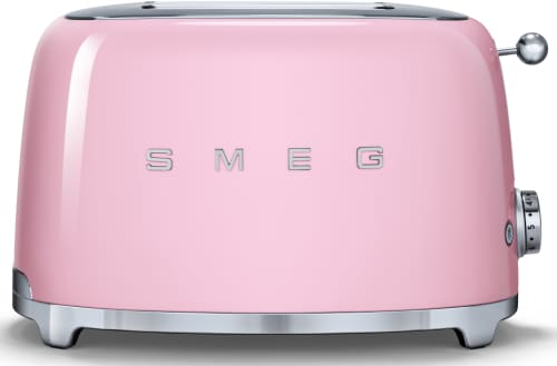 Smeg TSF01PKUS Countertop Toaster with 2 Slice Capacity Defrost