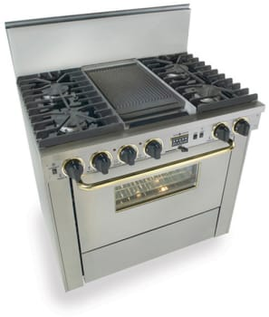 FiveStar TTN3377 - Stainless Steel with Brass Trim