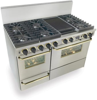 FiveStar TTN5377 - Stainless Steel with Brass Trim