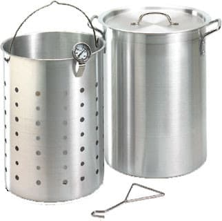 Moen 3570 - Turkey Frying Pot Kit 26 Qt. Aluminum with Basket & Thermometer