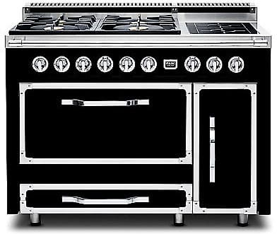Viking Tuscany Series TVDR4804FGB - Graphite Black (shown is 4 Gas Burners, 2 Induction Elements model)