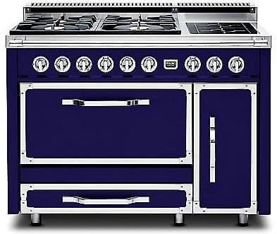 Viking Tuscany Series TVDR4804FDB - Dark Blue (shown is 4 Gas Burners, 2 Induction Elements model)