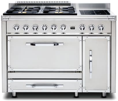 Viking Tuscany Series TVDR4804FSS - Stainless Steel (shown is 4 Gas Burners, 2 Induction Elements model)