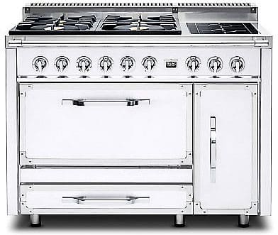 Viking Tuscany Series TVDR4804GAW - Antique White (shown is 4 Gas Burners, 2 Induction Elements model)