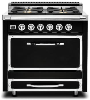 "Viking Tuscany Series TVDR3604B - 36"" Tuscany Range in Graphite Black"