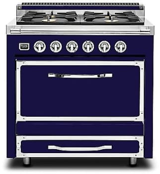 "Viking Tuscany Series TVDR3602GDB - 36"" Tuscany Range in Dark Blue"