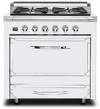 "Viking Tuscany Series TVDR3602GAW - 36"" Tuscany Range in Antique White"