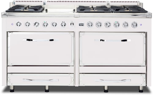 Viking Tuscany Series TVDR6606GAW - Antique White Front View