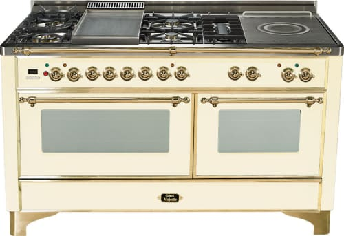 Ilve UM150FDMP - Antique White (Alternate cooktop model with griddle and frenchtop shown here. Selected model features griddle ONLY)