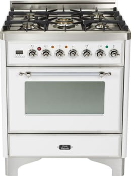 Ilve Majestic Collection UM76DMPBX - True White with Chrome Trim