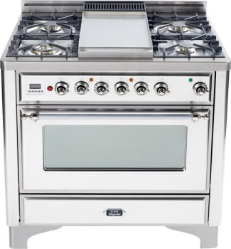 Ilve Majestic Collection UM906DMPBX - True White with Chrome Trim