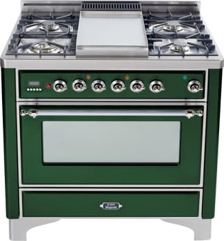 Ilve Majestic Collection UM90FDMPVSX - Emerald Green with Chrome Trim