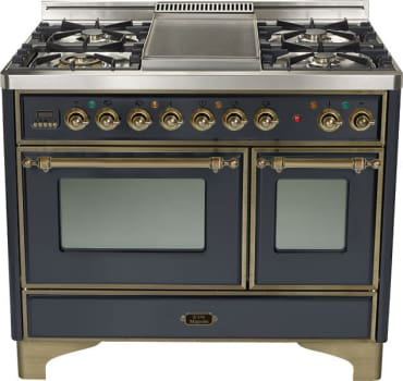 Ilve Majestic Collection UMD1006DMPMY - Matte Graphite with Oil Rubbed Bronze Trim