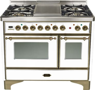 Ilve Majestic Collection UMD100FDMPBY - True White with Oil Rubbed Bronze Trim