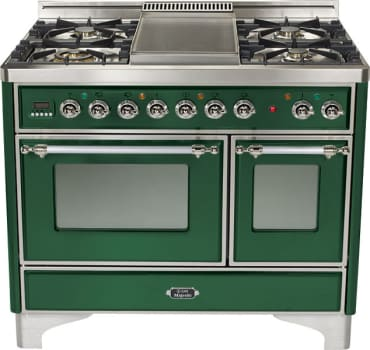 Ilve Majestic Collection UMD100FDMPVSX - Emerald Green, Chrome Trim