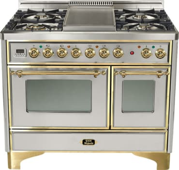 Ilve Majestic Collection UMD100SDMPI - Stainless Steel with Brass Trim (Alternate Cooktop Model Pictured Here - Griddle Not Included)