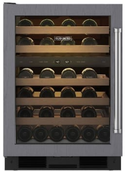 Sub-Zero UW24OLH - Sub-Zero UW-24 Undercounter Wine Storage, Left Hinge Door Swing (ready for a custom door panel)