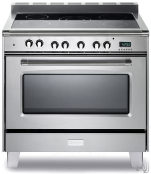"Verona Classic Series VCLFSEE365 - 36"" Verona Classic Electric Range in Stainless Steel"