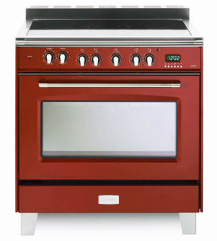 "Verona Classic Series VCLFSEE365R - 36"" Verona Classic Electric Range in Gloss Red"