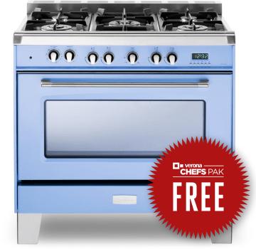 Verona Classic Series VCLFSGE365BL - Free Chefs Pak