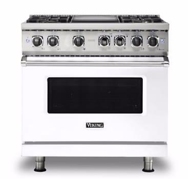 Viking Professional 5 Series VDR5364GWHLP - White Front View