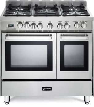 fbb0bb82b Verona. VEFSGE365NDSS. 36 Inch Pro-Style Dual-Fuel Double Oven Range  (Closeout) with 5 Sealed Burners ...