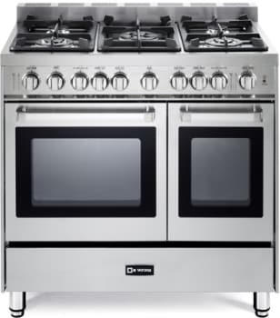 Verona Vefsgg365ndss 36 Inch Pro Style Gas Range With 3 9 Cu Ft