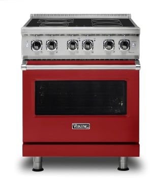 Viking Professional 5 Series VER5304BAR - Apple Red Front View