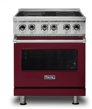 Viking Professional 5 Series VER5304BBU - Burgundy Front View