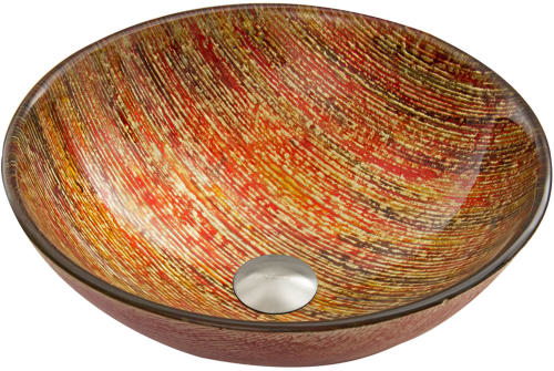 Vigo Industries Vessel Sink Collection VG07048 - Blazing Fire Main View
