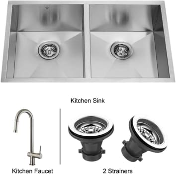 Vigo Industries Premium Collection VG14008 - Undermount Stainless Steel Kitchen Sink