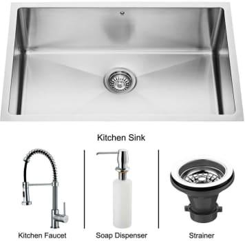 Vigo Industries Platinum Collection VG15021 - Undermount Stainless Steel Kitchen Sink