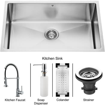 Vigo Industries Platinum Collection VG15054 - Undermount Stainless Steel Kitchen Sink