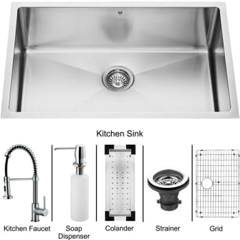 Vigo Industries Platinum Collection VG15055 - Undermount Stainless Steel Kitchen Sink