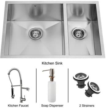 Vigo Industries Platinum Collection VG15068 - Undermount Stainless Steel Kitchen Sink
