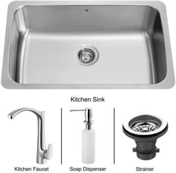 Vigo Industries Platinum Collection VG15069 - Undermount Stainless Steel Kitchen Sink