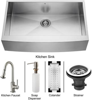 Vigo Industries Platinum Collection VG15109 - Stainless Steel Farmhouse Kitchen Sink