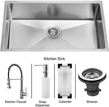 Vigo Industries Platinum Collection VG15112 - Undermount Stainless Steel Kitchen Sink