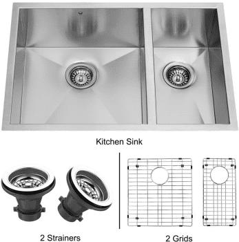 Vigo Industries Kitchen Sink Collection VG2920BLK1 - Undermount Stainless Steel Kitchen Sink