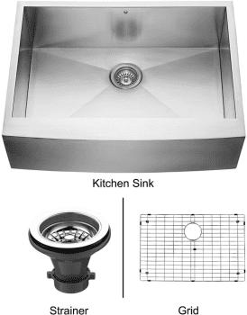 Vigo Industries Kitchen Sink Collection VG3020CK1 - Stainless Steel Farmhouse Kitchen Sink