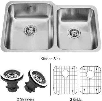 Vigo Industries Kitchen Sink Collection VG3221LK1 - Undermount Stainless Steel Kitchen Sink