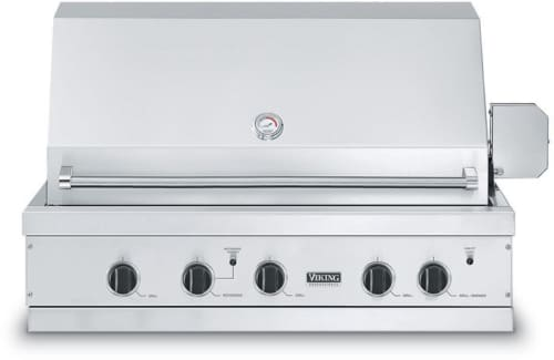Viking Vgbq4103re1n 41 Inch Built In Gas Grill With 836 Sq In Cooking Surface 29 000 Btu Stainless Steel Grill Burners Dual Purpose Grill Smoker Burner Gourmet Glo Infrared Rotisserie Electronic Ignition Re Ignition And Control Panel Illumination