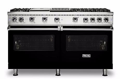 Viking Professional 5 Series VGR5606GQBKLP - Black Front View