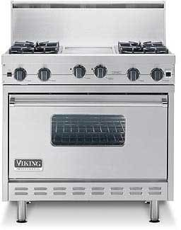Viking Professional Series VGRC3656BDx - Featured View with Optional Backguard