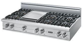 "Viking Professional Custom Series VGRT5486GSS - 48\"" Sealed Burner Rangetop"